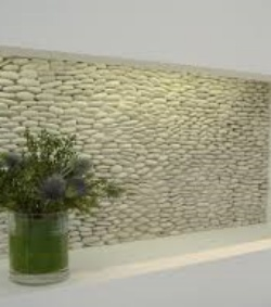 Glass tile wall