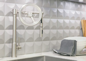 Waterstone Wheel pull down faucet